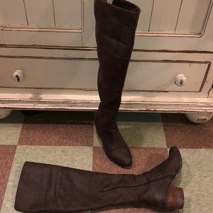 Report over knee stack boot 7  justeen